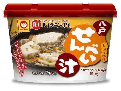 ↑ マルちゃん カップ 八戸せんべい汁 しょうゆ味