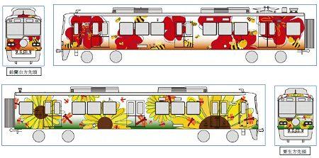 ↑ A案。HAPPY TRAIN ★-見ても幸せ、乗るともっと幸せ-