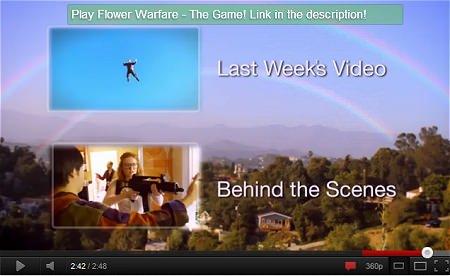 ↑ 本編映像を再生し終えた後、「メイキング動画」と「製作者の最新動画」へのお誘いリンクを掲載。