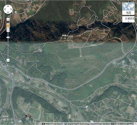 ↑ GoogleMapで該当地域周辺を表示。現時点でのデータでは、整地途中の状況が確認できる。