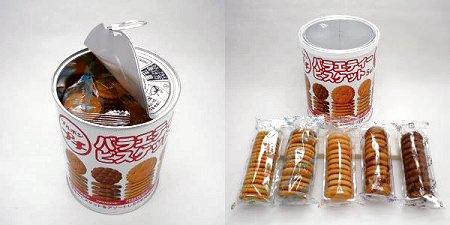 ↑ プチバラエティービスケット保存缶