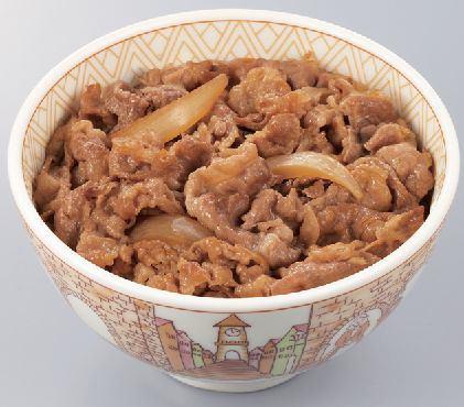 ↑ すき家の牛丼