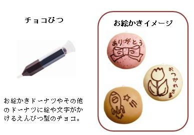 ↑ チョコぴつとお絵かきをしたイメージ