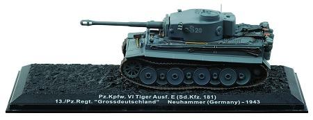 ↑ 創刊号表紙と創刊号付録の「VI号戦車ティーガーE型」