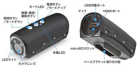 ↑ 自転車車載カメラ 防水 フルHD 400-CAM011