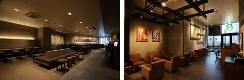 ↑ ソラマチ東6階店(左)とソラマチ西1階店(右)
