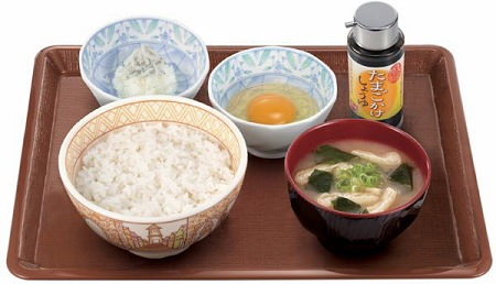 ↑ たまごかけごはん朝食(並)