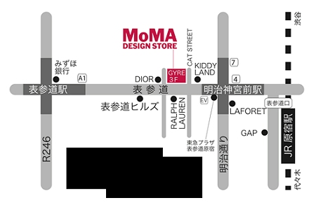 ↑ MoMA DESIGN STORE,TOKYO