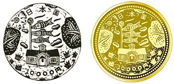 ↑ 二次発行分の一万円金貨について、応募デザインと金貨用に修正された上での金貨イメージ