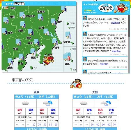 ↑ 各地域ごとに詳細な「ガリ天」も表示可能