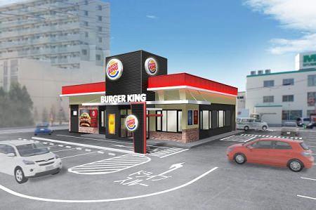 ↑ バーガーキング 札幌白石店外観