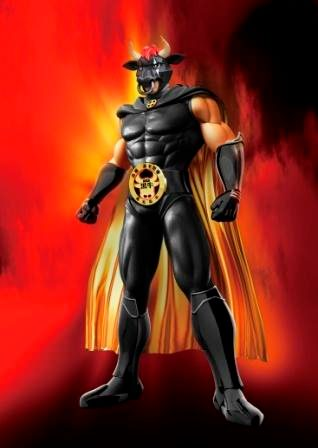 ↑ 名前が公募される鹿児島黒牛ヒーロー