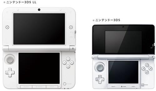 ↑ 現行サイズのニンテンドー3DSと、3DS LLとのサイズ比較