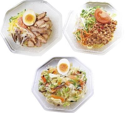 ↑ 上段左から「冷し中華」「冷し担々麺」、下段「冷しタンメン」
