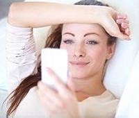 ベッド上での携帯電話アクセス