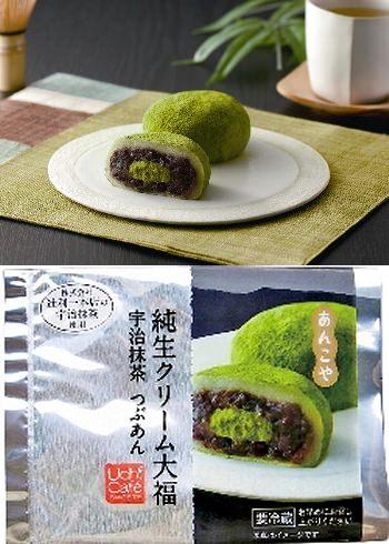 ↑ あんこや 純生クリーム大福 宇治抹茶