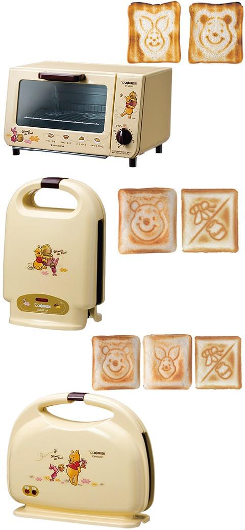 ↑ 上から「オーブントースター」「ホットサンドメーカー(1枚焼き)」「ホットサンドメーカー(2枚焼き)」と、それぞれ専用の焼形で焼けるパンたち