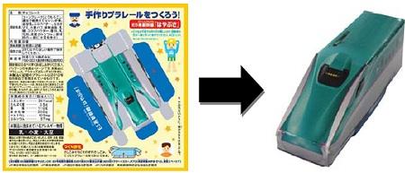 ↑ パッケージ裏と完成図