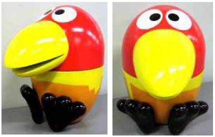 ↑ 新しいおもちゃのカンヅメ「新キョロ缶」