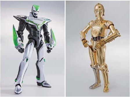 """↑ 「12""""PM ワイルドタイガー」(左)と「12""""PM C-3PO」(右)"""