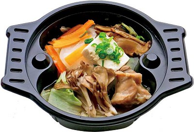 ↑ 蒸でり 鶏ときのこの雑炊