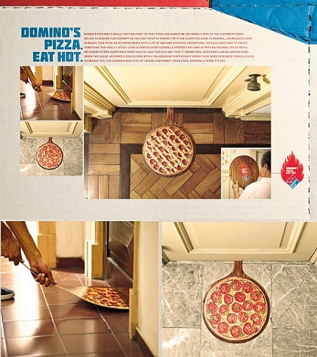 ↑ Domino's Pizza: Eat Hot