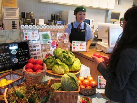↑ 店舗での生野菜販売イメージ