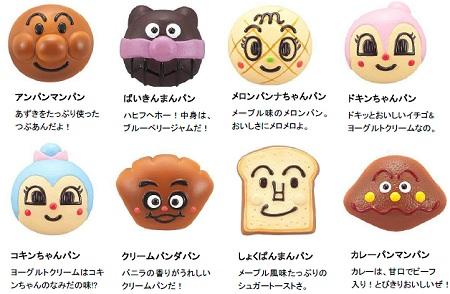 ↑ 8種類のキャラクタパン