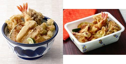 ↑ 『松茸天丼』(左)と『松茸天丼弁当』(右)
