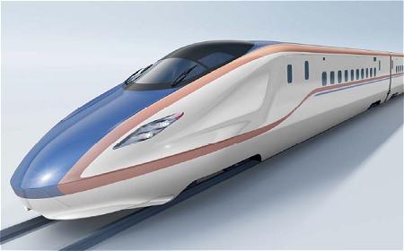 ↑ 北陸新幹線用新型車両の外観