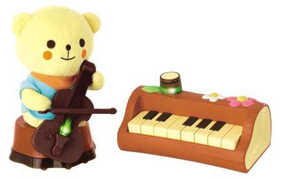 ↑ わたし、ピアノ! くまくん、チェロね。
