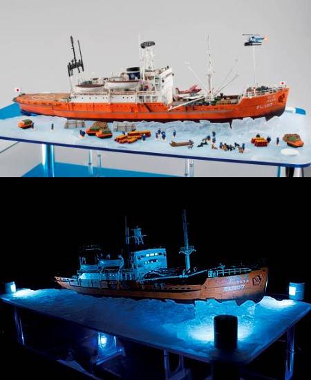 ↑ 海面プレートや氷海プレートなど、情景を再現するオプションで、さまざまな「ワンシーン」が作り出せる