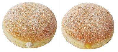 ↑ エンゼルクリーム(左)とカスタードクリーム(右)