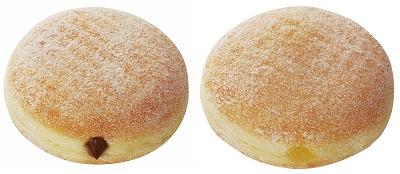 ↑ チョコクリーム(左)とアップル(右)
