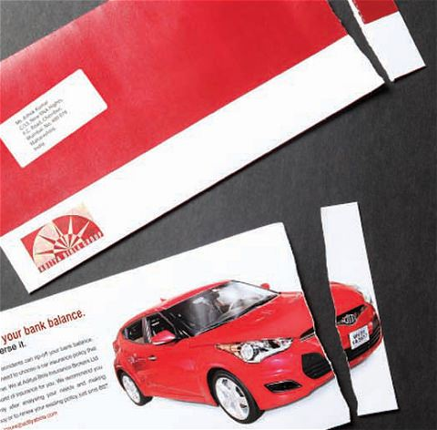 ↑ Birla Motor Insurance: Envelope