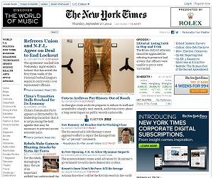 ニューヨーク・タイムズ紙