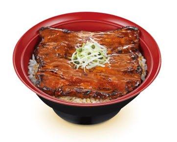 ↑ 豚かばやき丼