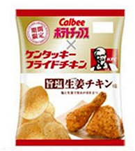 ↑ ポテトチップス 旨塩生姜チキン味