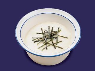↑ 朝定食の「選べる小鉢」の選択肢としての「とろろ」