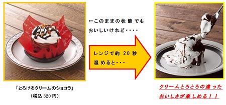 ↑ 「とろけるクリームのショコラ」の変化
