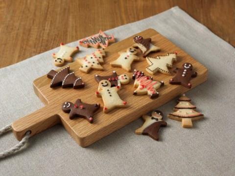 ↑ 自分でつくる 型を抜いて楽しむクッキー