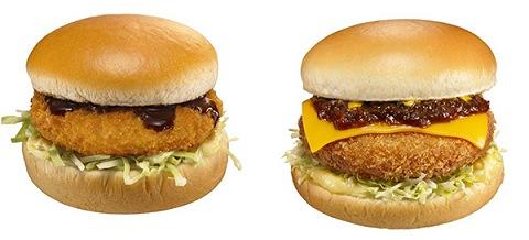 ↑ グラコロ(左)とデミチーズグラコロ(右)