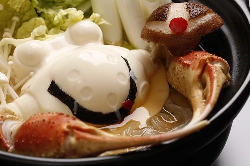 ↑ レシピ例。カニ鍋