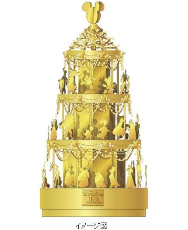 ↑ ディズニー ゴールドクリスマスツリー(イメージ図)