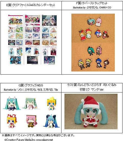 ↑ グッスマくじ賞品群