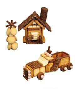 ↑ お菓子の家とお菓子のトラック