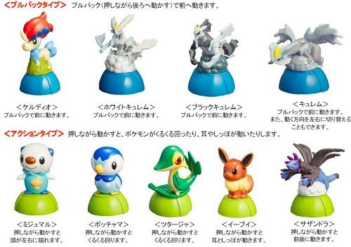 ↑ おもちゃは4タイプ、15種類