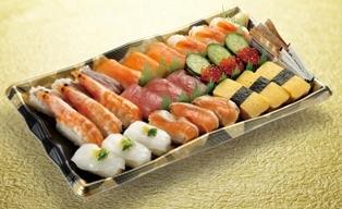 ↑ ファミリーにぎり寿司セット