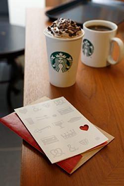 ↑ バレンタイン ビバレッジカードと共に……