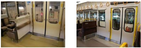 ↑ 出入り口付近の座席変更